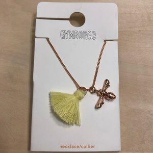 NWT Gymboree Yellow Tassel Girls necklace firefly